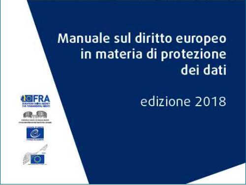manuale diritto europeo protezione dati